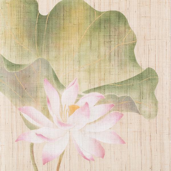 タペストリー 花景色 蓮