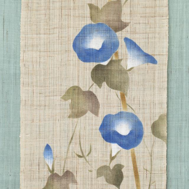 刺繍タペストリー 藍朝顔