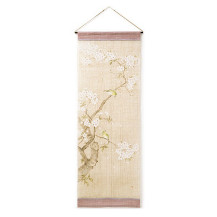 タペストリー 桜に目白