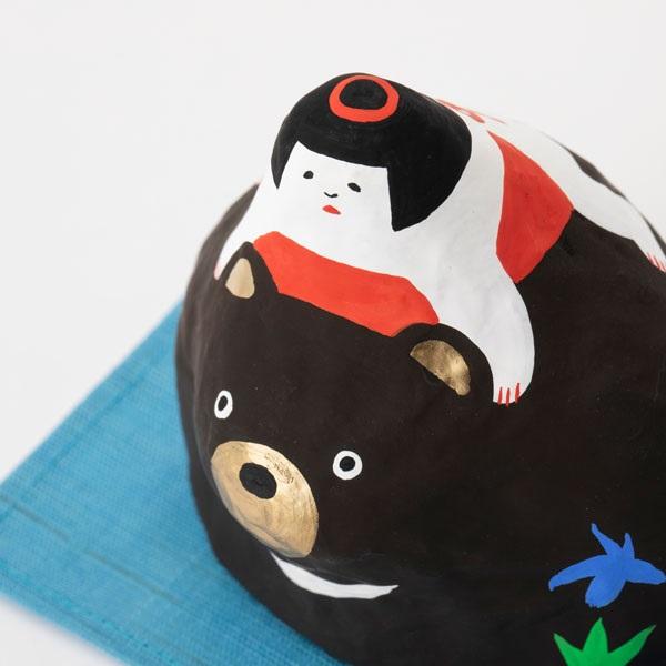 張子飾り 熊と金太郎