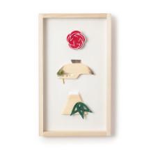 枠飾り 松喰鶴