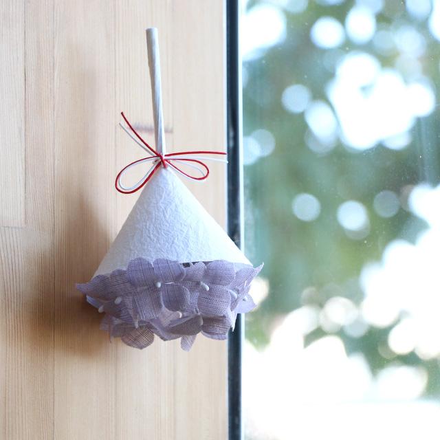 小さな紫陽花飾り