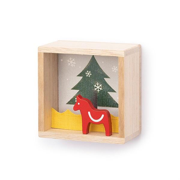 小さな掛け箱飾り クリスマス