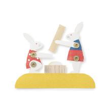 組立て紙飾り 餅つき兎