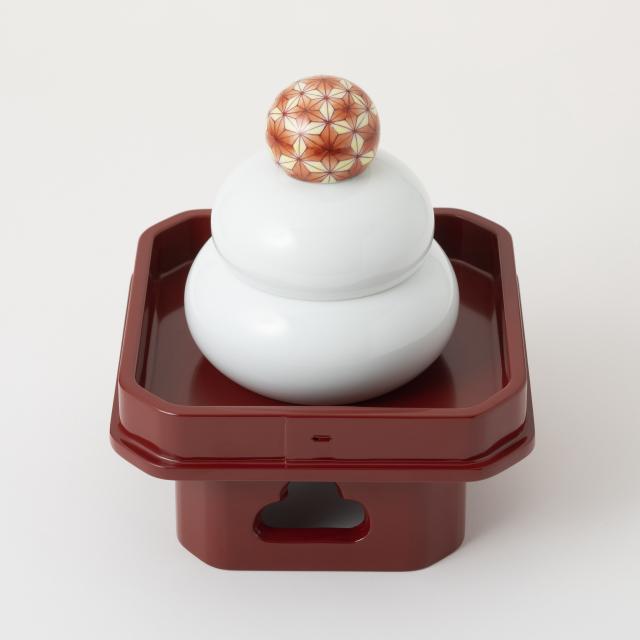 鍋島焼の鏡餅飾り 大