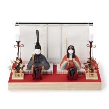 【予約商品】手織り麻の木目込み雛飾り(1/7~発送)