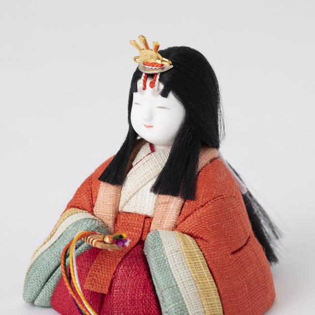 手織り麻の木目込み雛飾り 親王飾り【予約商品:2/1~発送予定】