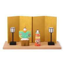 【予約商品】奈良一刀彫の雛飾り 雪洞・屏風付【1/12~順次発送予定】