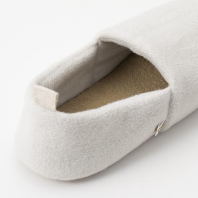 泉大津の毛布でつくったルームシューズ