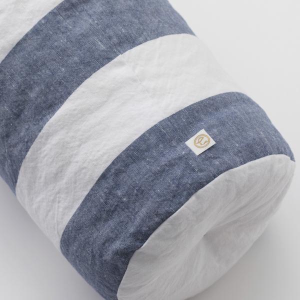 綿麻しましまお昼寝枕【会員限定蔵出市対象商品】