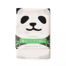 注染手拭い 親子パンダ