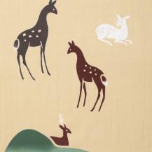 注染てぬぐい 三色鹿