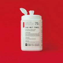 「消毒ができる」THE WET TOWEL ボトルタイプ 75枚入り