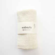 ガラ紡の健康タオル 生成