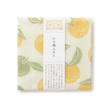 かや織ふきん 柚子
