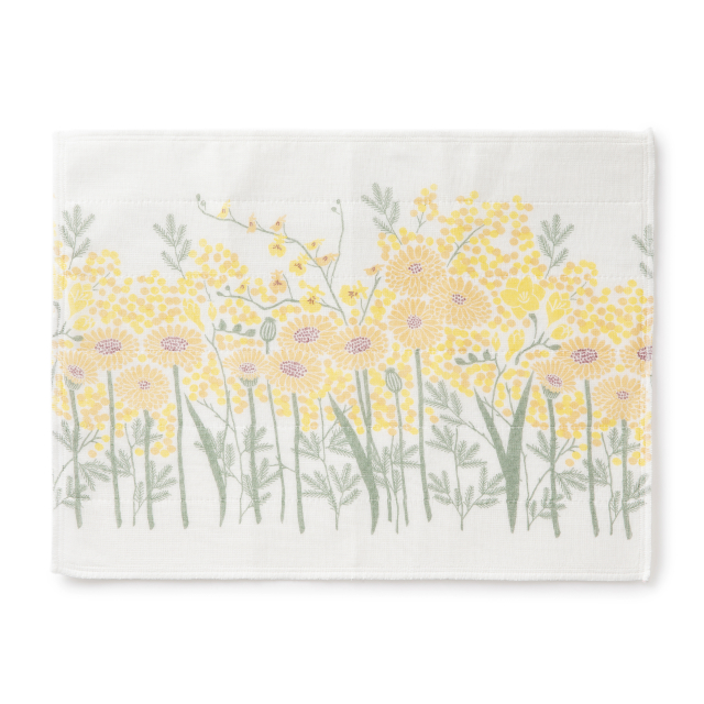花束ふきん 黄色