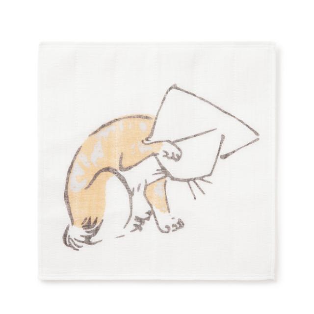 かや織ふきん 猫