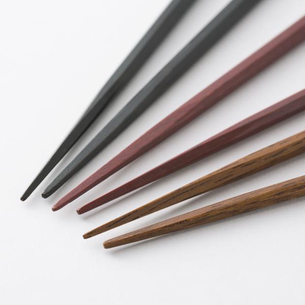 拭き漆のお箸 八角