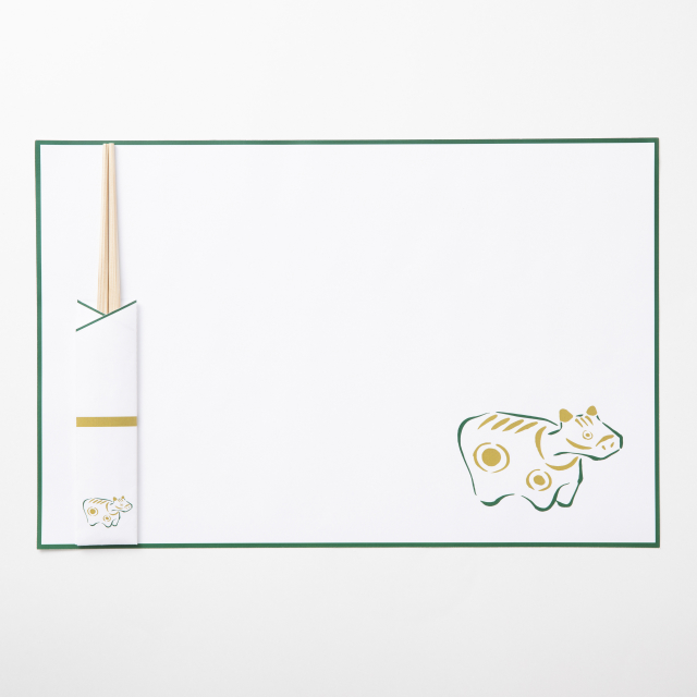 吉野杉の箸と紙ランチョン 丑