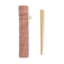 竹の弁当箸 撥水加工の箸袋付き