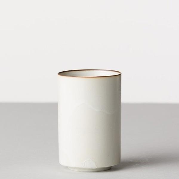 BARBAR 白磁尺掛け 筒湯呑
