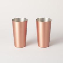 冷酒のための純銅ペアカップ