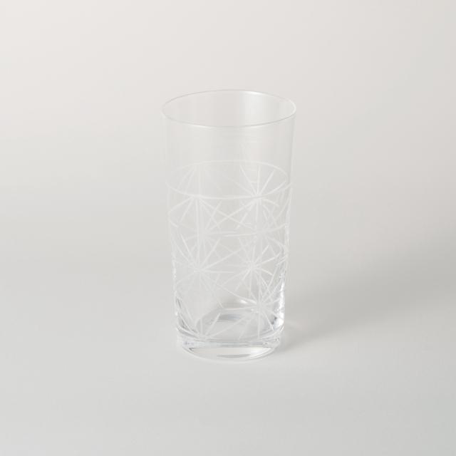 麻の葉切子グラス スリム