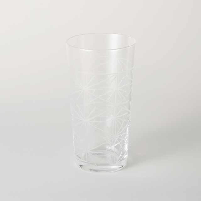 麻の葉切子グラス トール