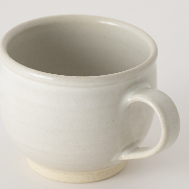 益子焼のマグカップ