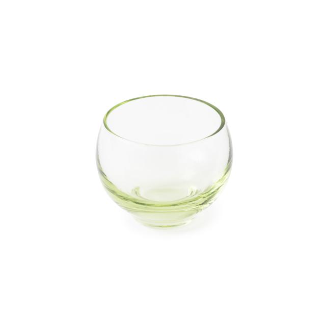 萩ガラス工房 緑の玄武岩ガラス 丸ちょこ