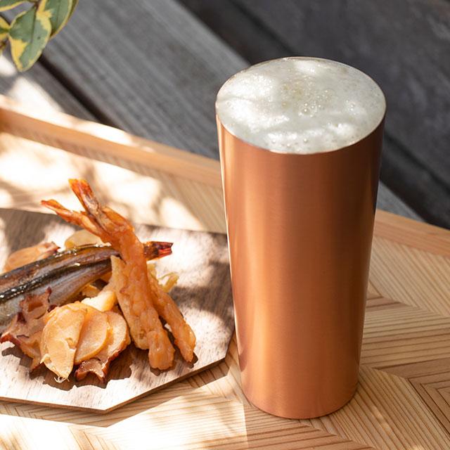 ビールのための純銅カップ