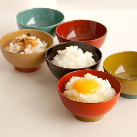 aisomo cosomo 飯椀 溜×オレンジ