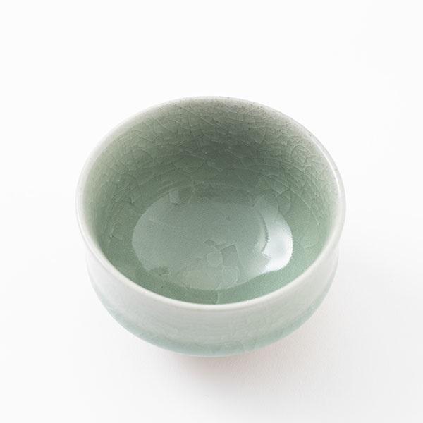鍋島虎仙窯 鍋島青瓷 貫入煎茶碗 5個入