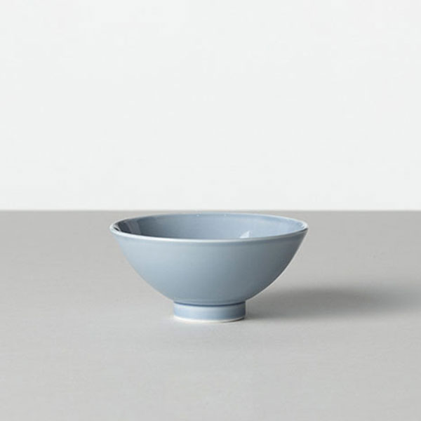 BARBAR 茶碗 色釉 白淡 小
