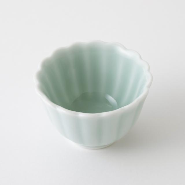 鍋島虎仙窯 鍋島青磁 菊豆鉢