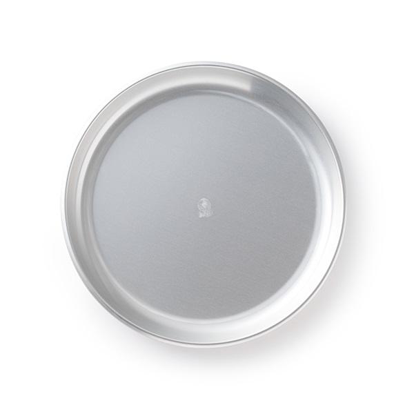 ダイヤ印 アルミ丸皿 シルバー 18cm