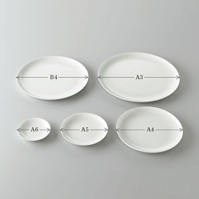 THE PLATE WHITE A5サイズ(直径148mm)