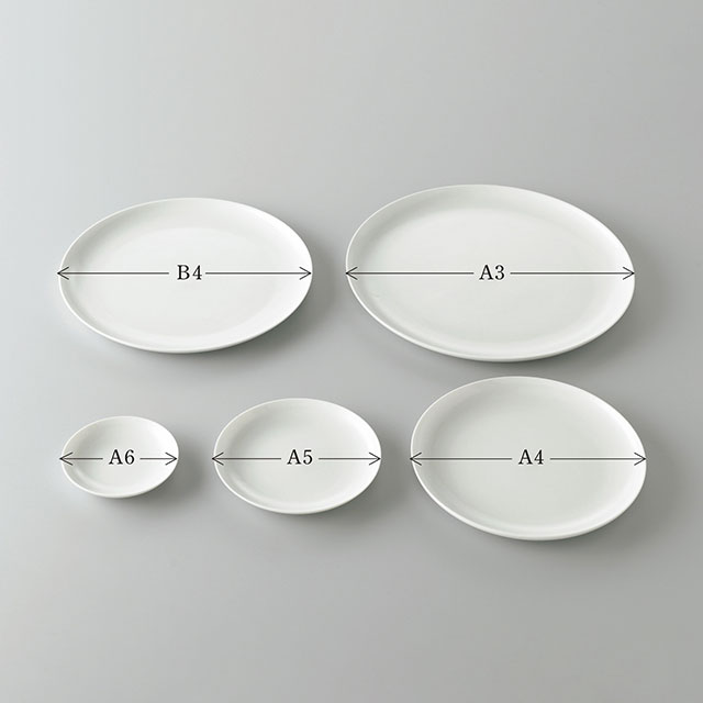 THE PLATE WHITE A3サイズ(直径297mm)
