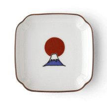 KUTANI SEAL 角小皿 富士山