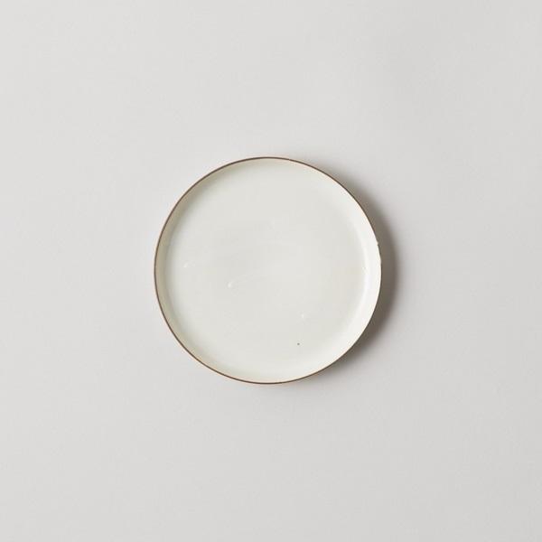 BARBAR 白磁尺掛け 皿 3寸皿