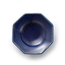 Awabi ware 八角豆皿 瑠璃