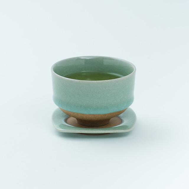 鍋島 虎仙窯 鍋島青瓷 貫入茶托 1個入