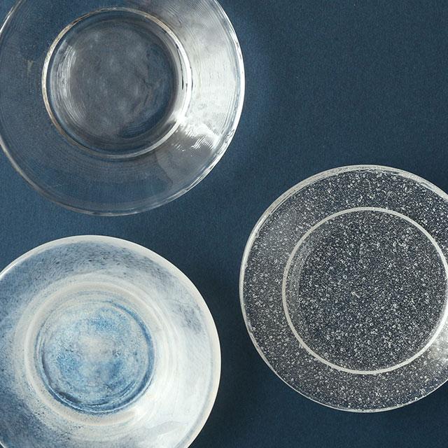 江戸硝子の豆皿 白