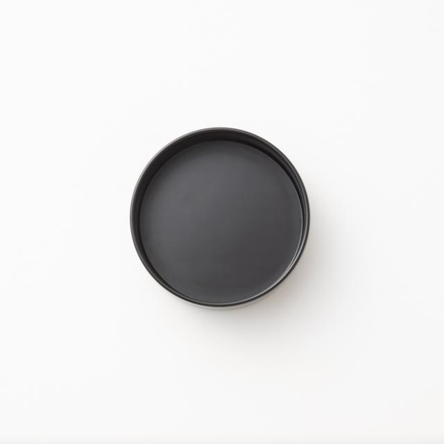RIN&CO. 越前硬漆 トレー丸 真塗 黒 S