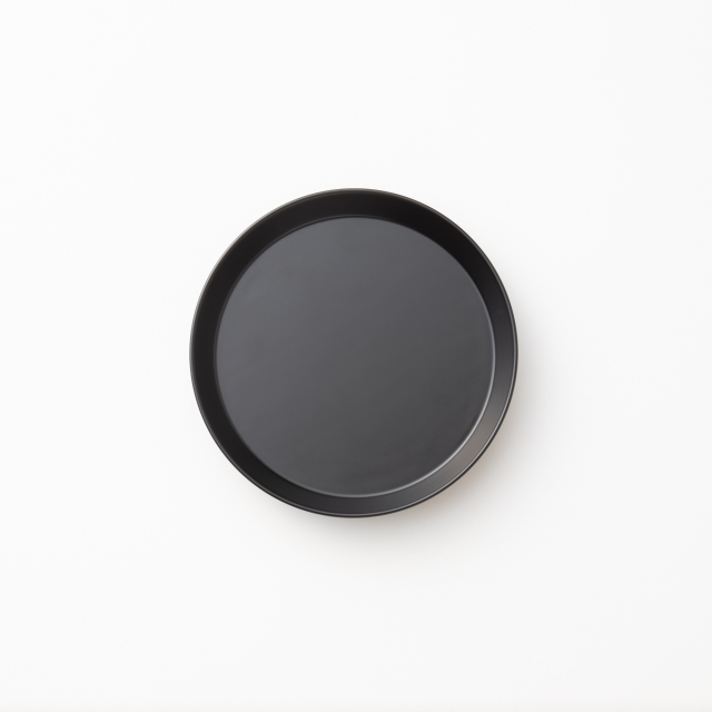 RIN&CO. 越前硬漆 平皿 真塗 黒 S