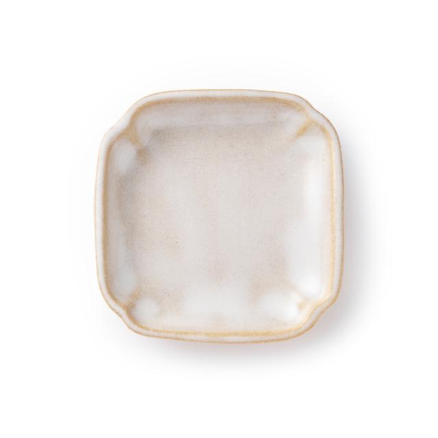 萩焼の豆皿 すみ切り小皿