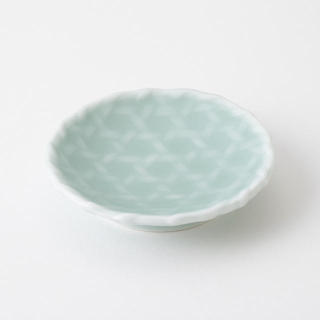 鍋島青磁 籠目豆皿