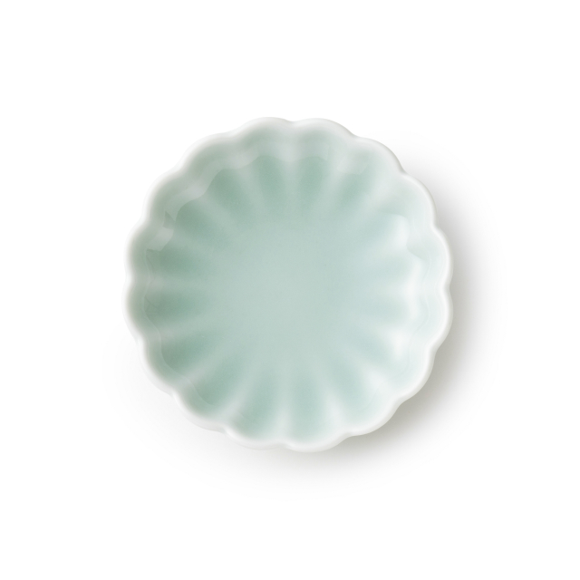 鍋島虎仙窯 鍋島青磁 菊豆皿
