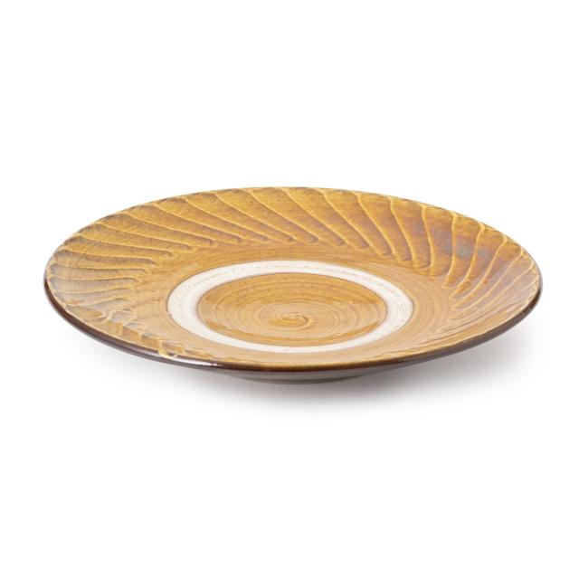 小鹿田焼の平皿