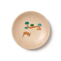 赤膚焼の豆皿